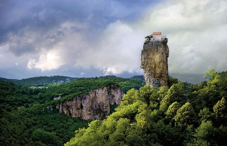 The Katskhi Pillar, in Chiatura, Republic of Georgia
