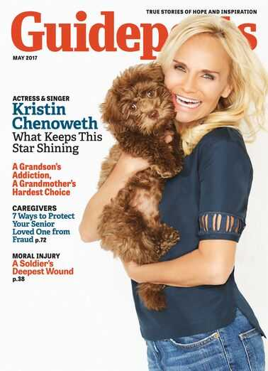 Kristin Chenoweth on the cover of Guideposts magazine (Guideposts)