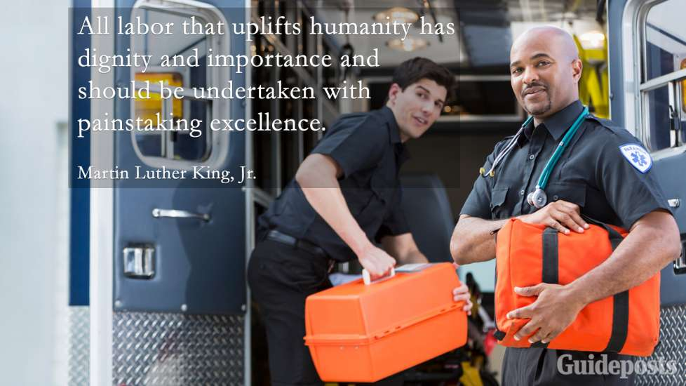 """Inspiring Labor Day Quotes: """"All labor that uplifts humanity has dignity and importance and should be undertaken with painstaking excellence."""" Martin Luther King, Jr. better living life advice"""