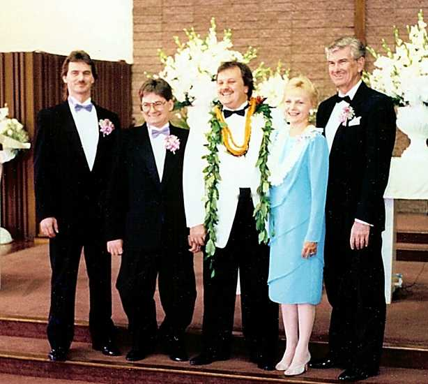 Arlene and Richard with their three sons.