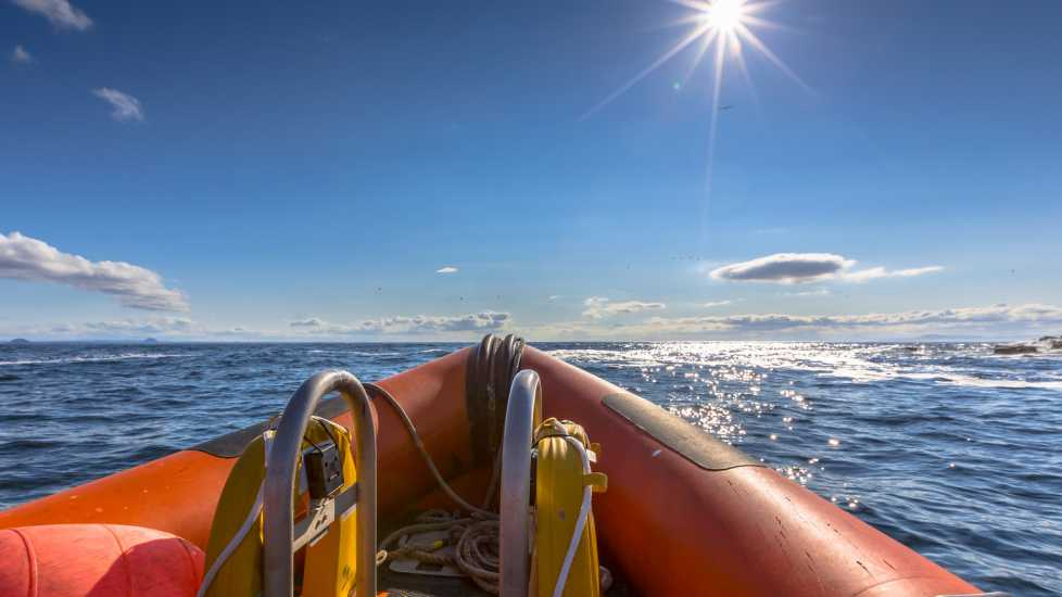 Life boat on ocean (Getty Images)