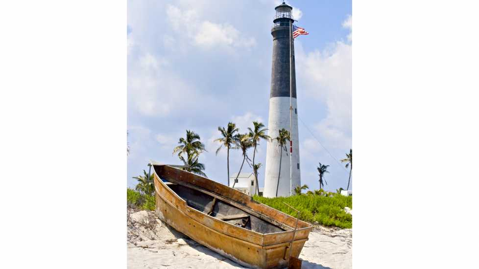 Loggerhead Lighthouse in the Dry Tortugas, Florida