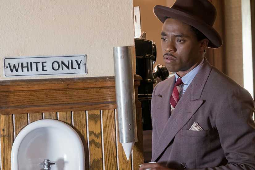 Chadwick Boseman in a scene from 'Marshall'