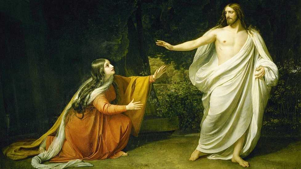"""Christ's Appearance to Mary Magdalene after the Resurrection"" by Alexander Ivanov from 1835"
