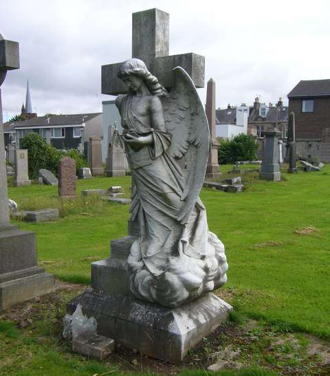 Scotland's Morningside Cemetery is home to this pensive angel.