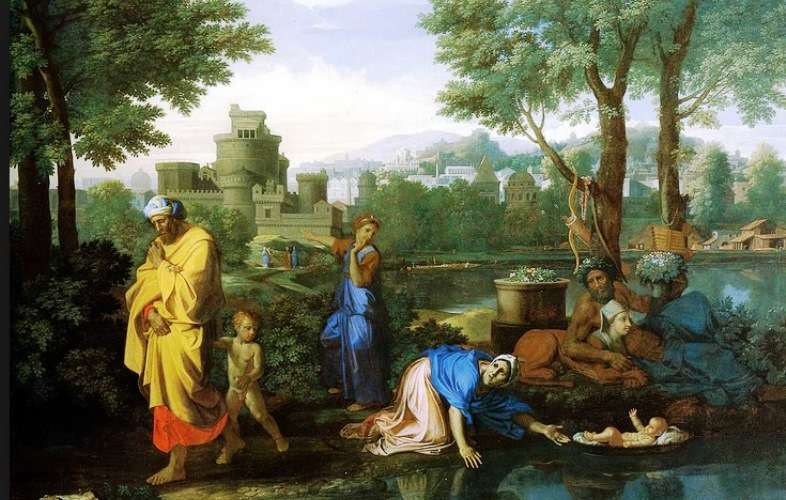 Baby Moses Saved from the River. 1654