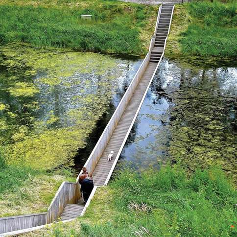 The Moses Bridge, Fort de Roovere in the Netherlands