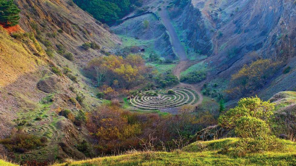 The labyrinths of the Sibley Volcanic Regional Preserve in Oakland, California