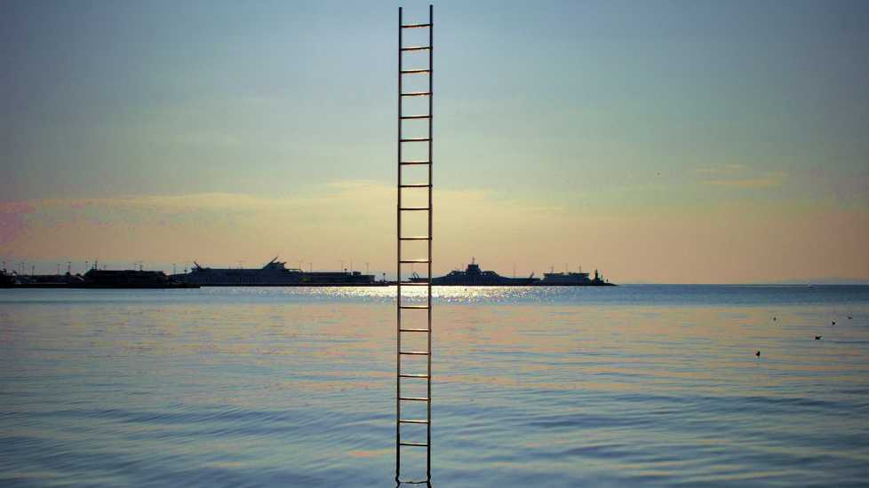 A ladder leading up to heaven.