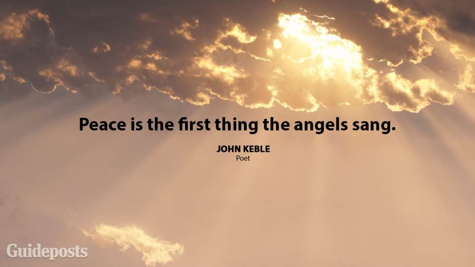 Peace is the first thing the angels sang