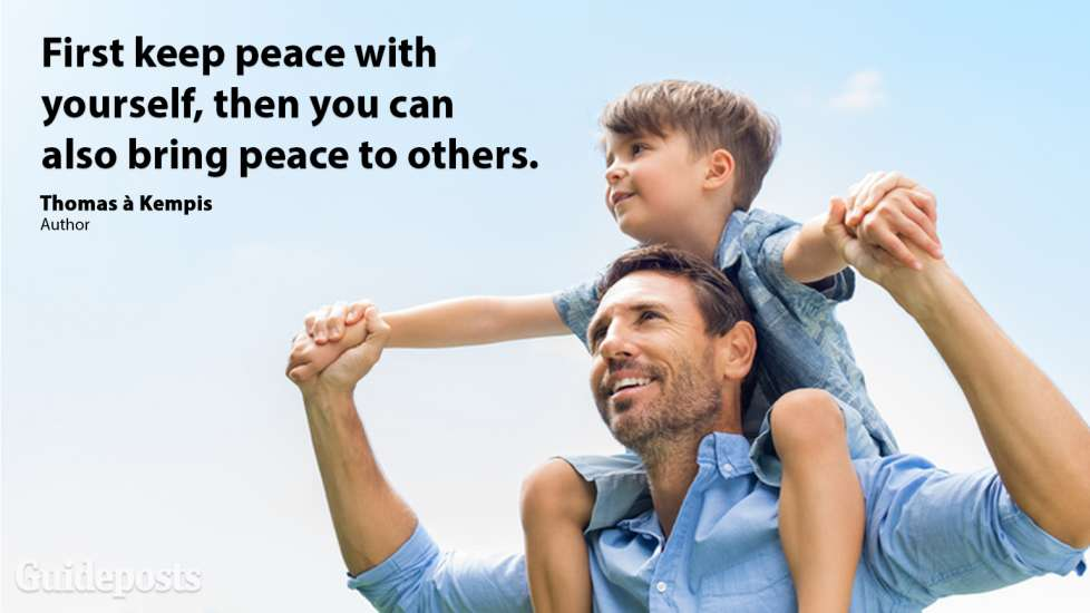First keep peace with yourself, then you can also bring peace to others
