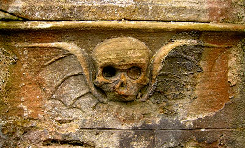 Winged skulls from the 17th century encouraged Puritan mourners to  ask themselves whether they were ready to enter heaven.