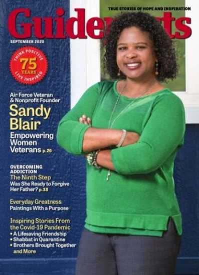 Sandy Blair on the cover of Guideposts magazine (Guideposts)
