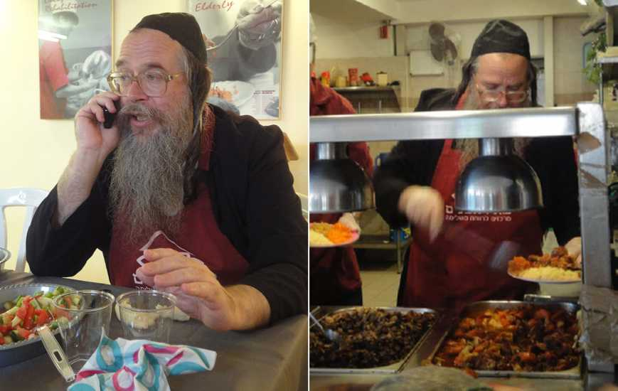 Soup kitchen manager Aryeh Cohen in Jerusalem, Israel; photo courtesy Stephen Henderson