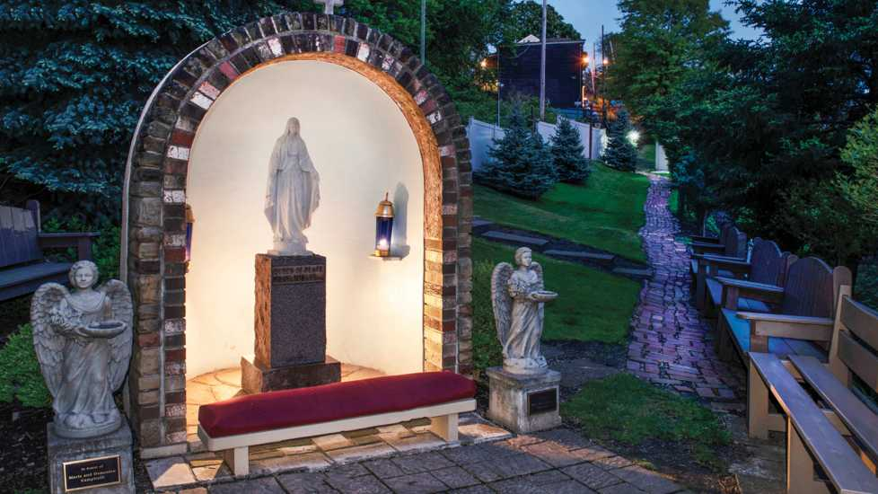 Shrine of the Blessed Mother in Pittsburgh PA; Photo credit: Scott Goldsmith