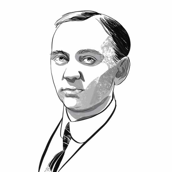 Edgar Cayce; ILLUSTRATION BY JOHN JAY CABUAY