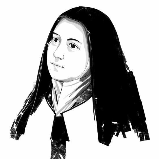 SAINT THÉRÈSE OF LISIEUX; ILLUSTRATION BY JOHN JAY CABUAY