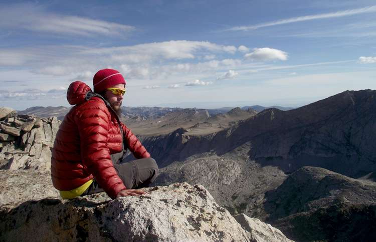 Guideposts: Nate Thompson at East Temple Peak in Wyoming's Wind River Range