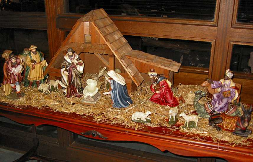 A typical Nativity set like so many families display in their homes