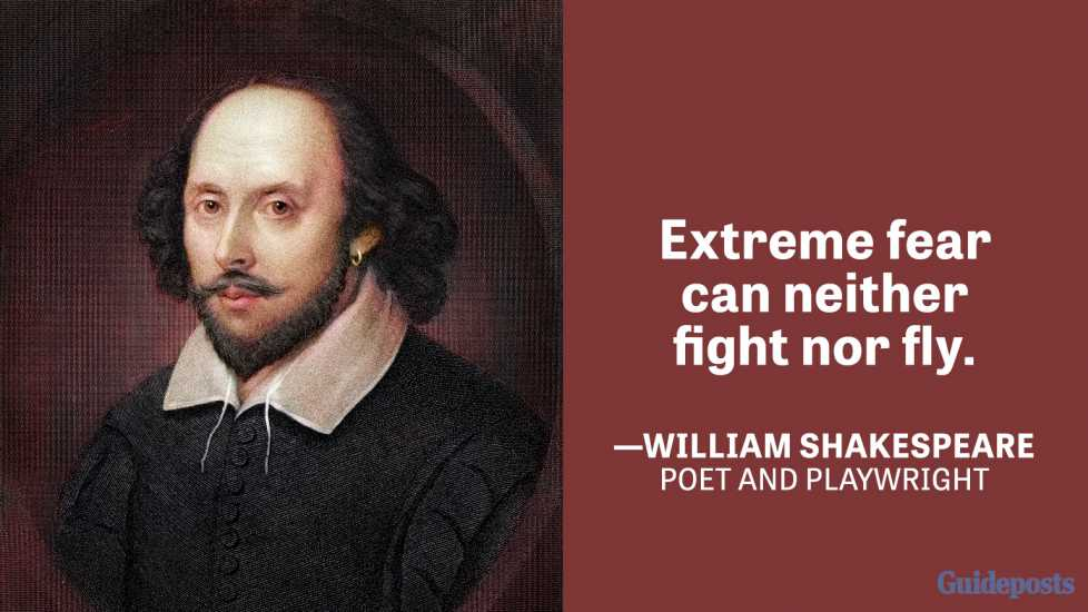 Extreme fear can neither fight nor fly. —William Shakespeare, Poet and playwright
