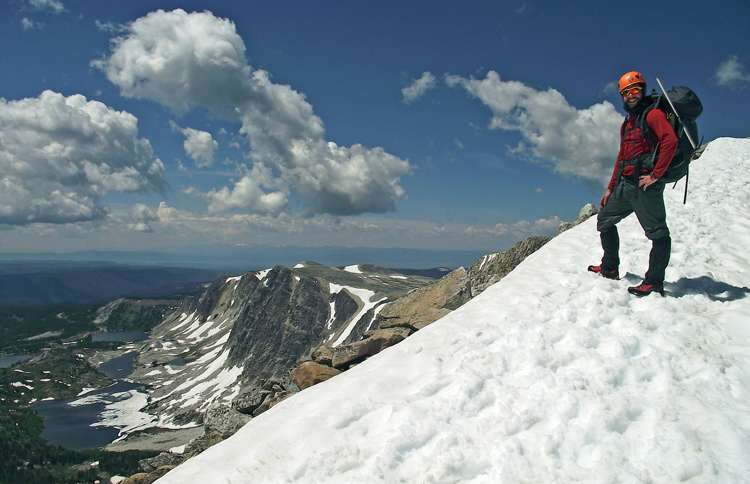 Guideposts: Nate on Medicine Bow peak in Wyoming's Medicine Bow National Forest