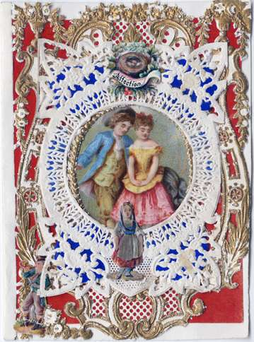 "Guidepsts: Esther Howland Valentine card, ""Affection"" ca. 1870s"