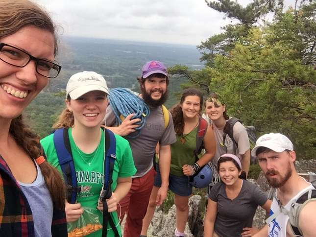 Guideposts: Nate and friends from a climbing class  in South Carolina