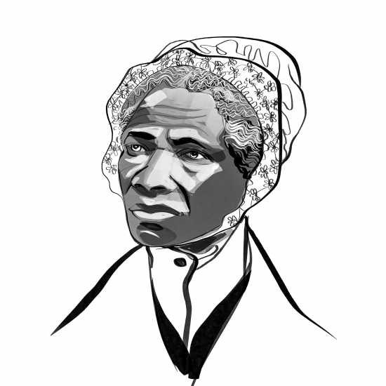 Sojourner Truth; ILLUSTRATION BY JOHN JAY CABUAY
