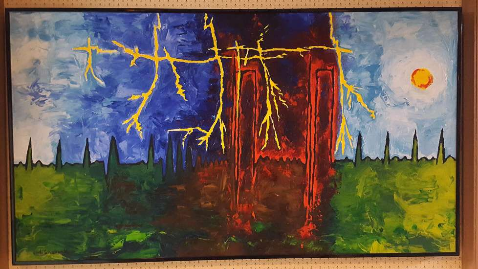 Another of Linda's heart-rhythm paintings