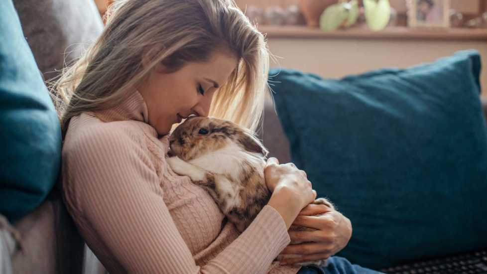Rabbit and owner; Getty Images