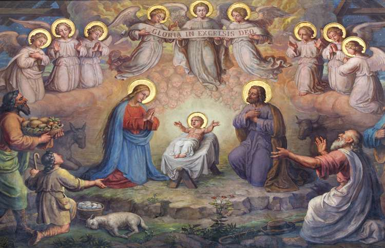 Guideposts: Vienna--Fresco of Nativity Scene in Carmelites