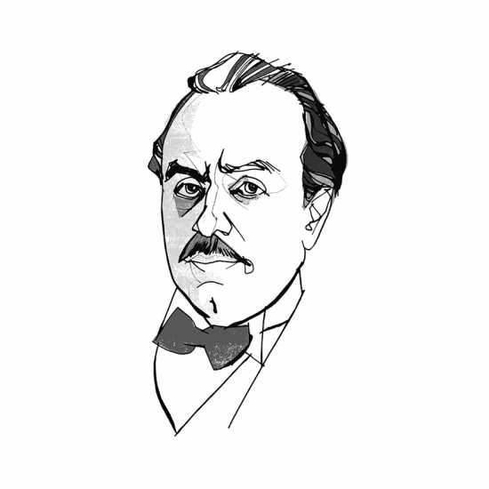 Kahlil Gibran; ILLUSTRATION BY JOHN JAY CABUAY
