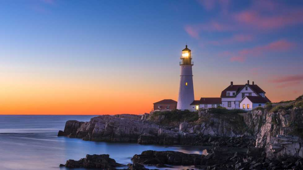 A lighthouse; Getty Images