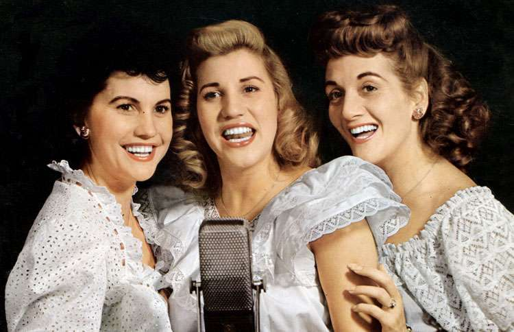 Guideposts: Swinging, singing siblings The Andrews Sisters (L-R Maxene, Patty, LaVerne)