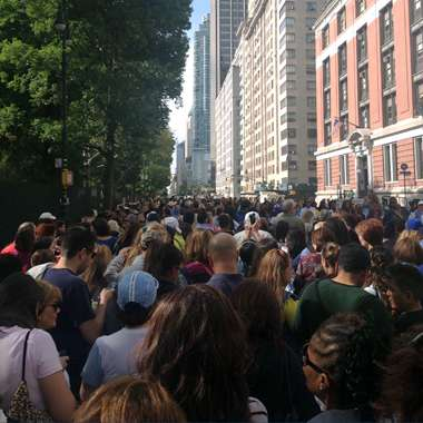 Guideposts: The line to see Pope Francis in Central Park, New York City