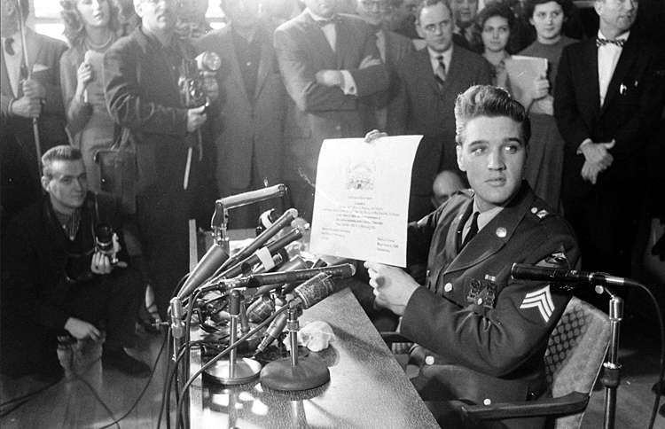 Guideposts: Elvis Presley served in the US Armed Forces.