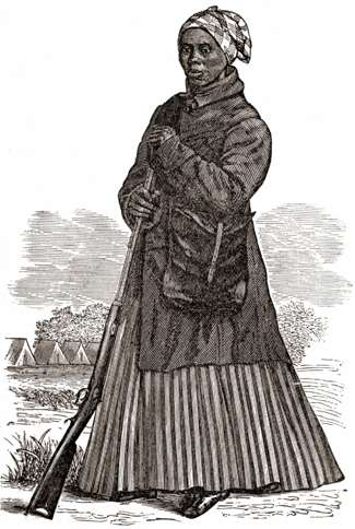 Guideposts: A woodcutting depicting Harriet Tubman as a young woman