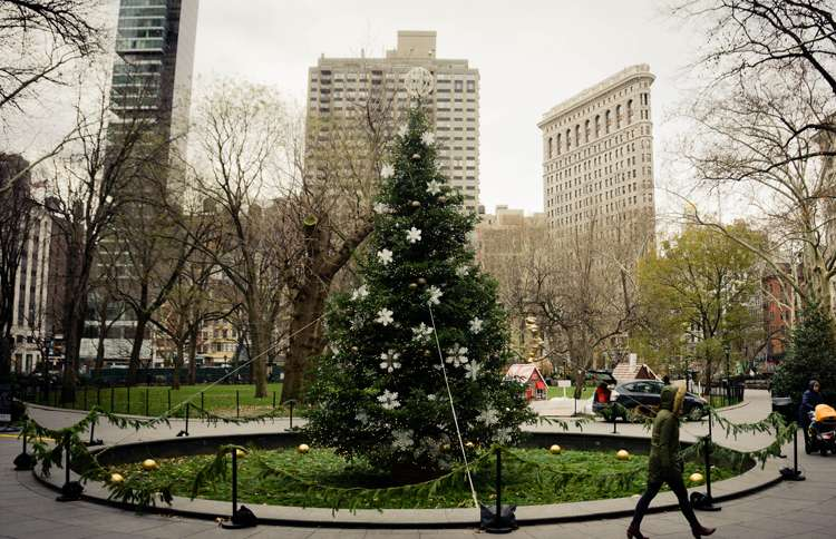 Guideposts: Madison Square Park in New York City is said to be the site of the first public Christmas tree to be illuminated.