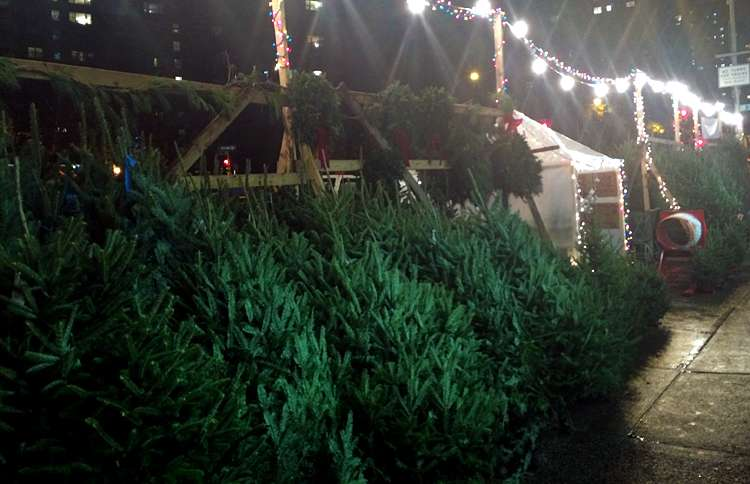 Guideposts: A sidewalk Christmas stand in NYC
