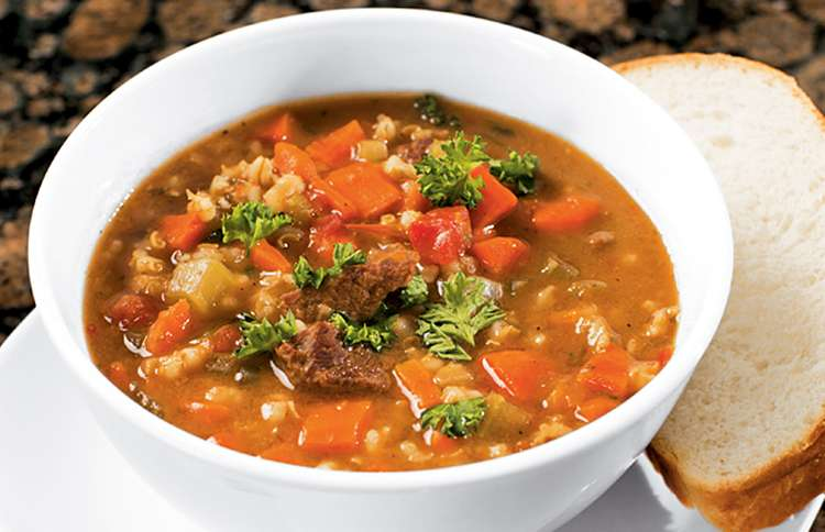Favorite Winter Soup Recipes: Veggie Beef and Barley Soup better living recipes soups