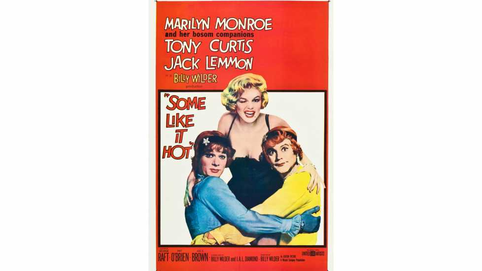 Theatrical poster for the release of the 1959 film Some Like It Hot.