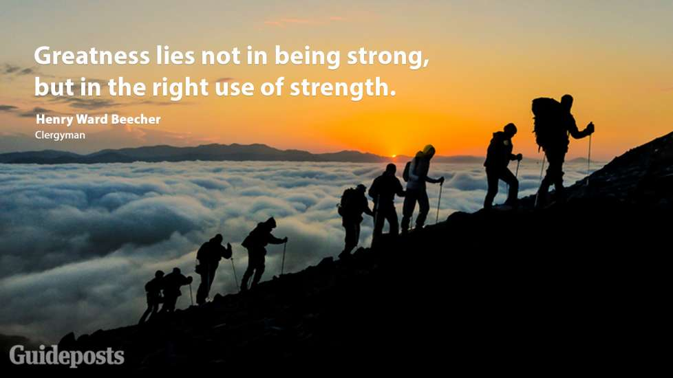 Greatness lies not in being strong, but in the right use of strength