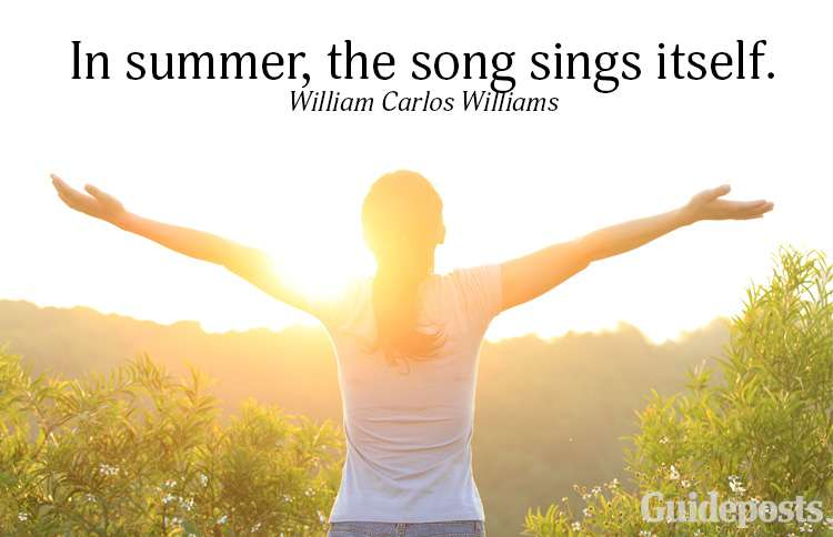A summer quote from William Carlos Williams