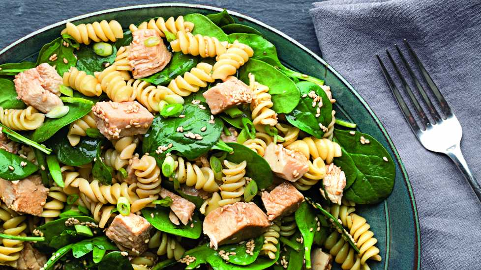 The power of greens and a touch of Asian flavor comes through in this salad that's great for picnics.