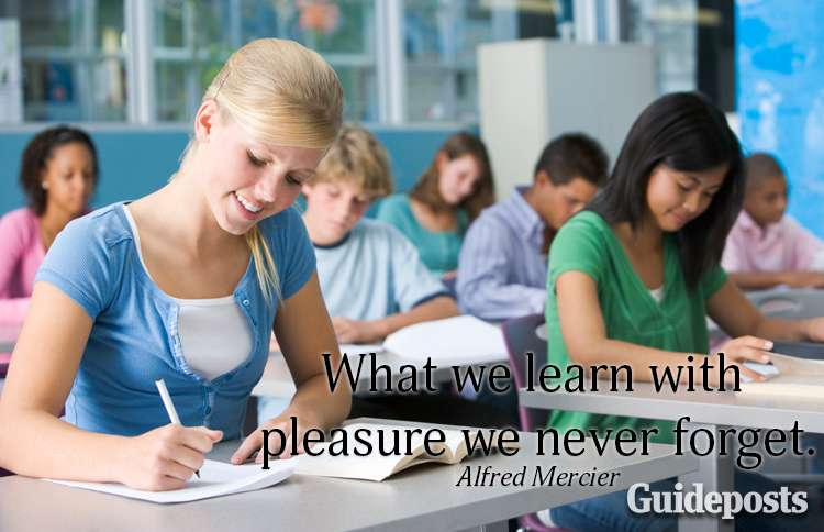 What we learn with pleasure, we never forget.--Alfred Mercier