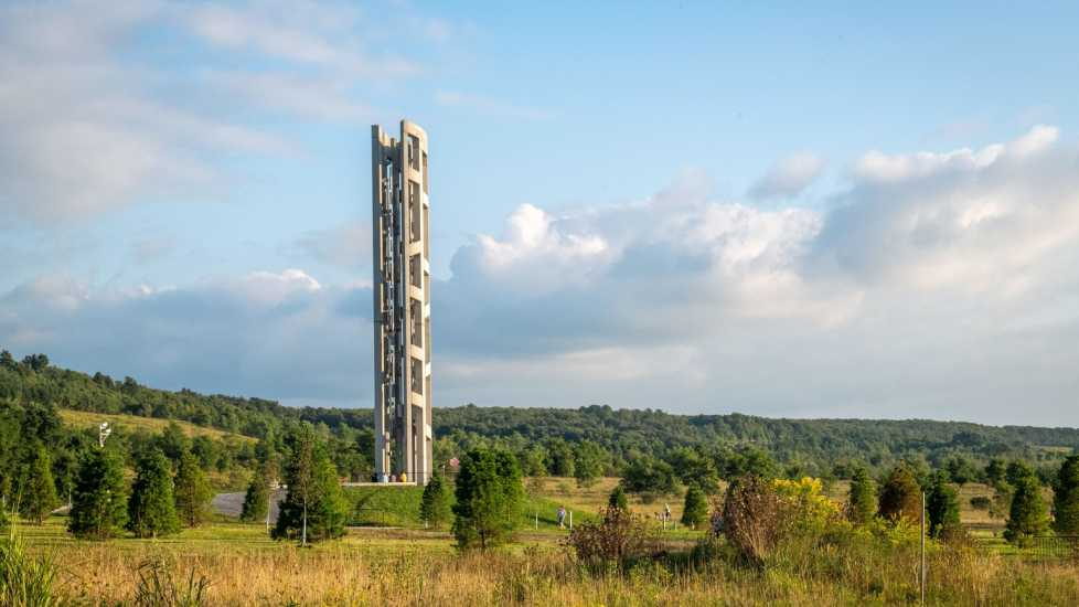 The Tower of Voices at Flight 93 Memorial, Shanksville, PA (Alamy)
