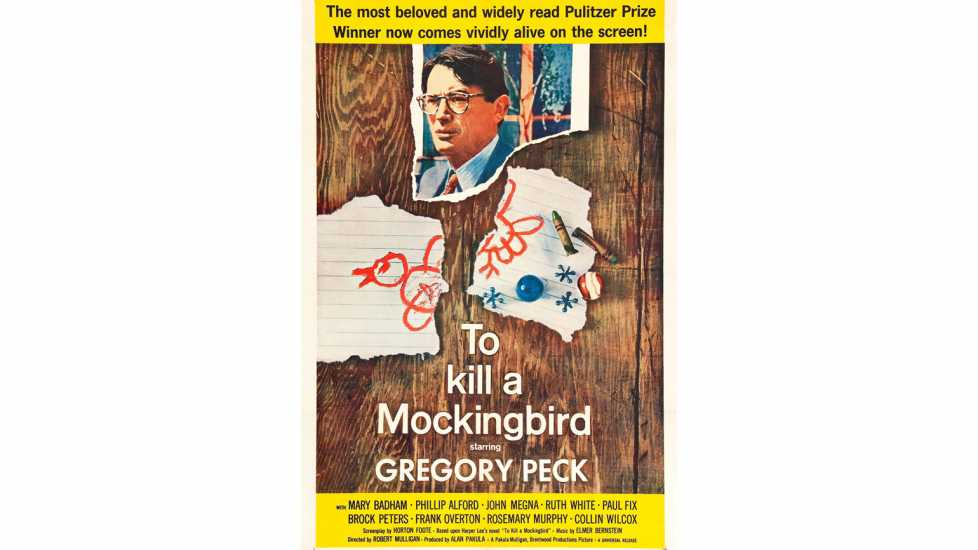 Poster for the US theatrical release of the 1962 film To Kill a Mockingbird.