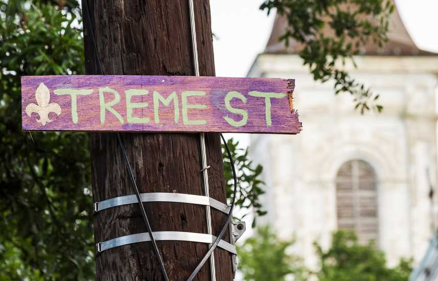 Street sign of Treme Street in Treme, New Orleans