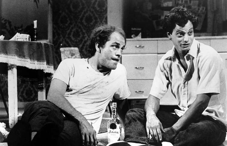Guideposts: Gary Sinise (right) with John Malkovich in the Broadway production of True West