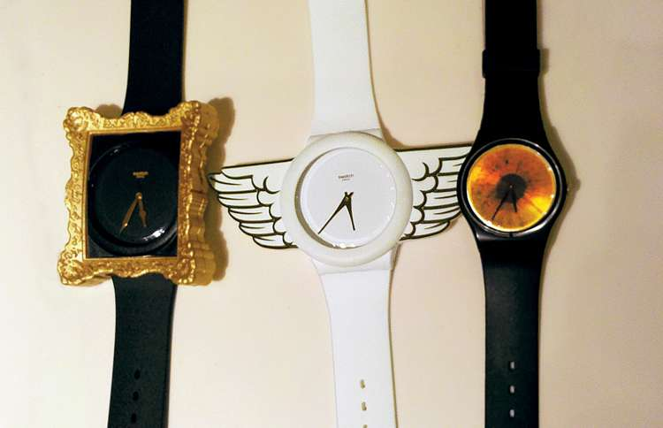 A watch with angel wings